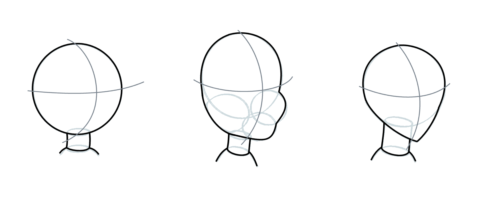 how to draw a head cartoon