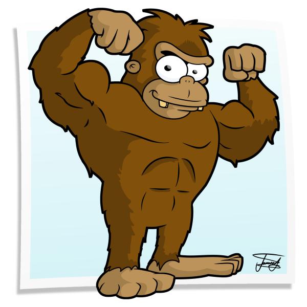 Bigfoot Cartoon Drawing Cartoon Mascot Bigfoot