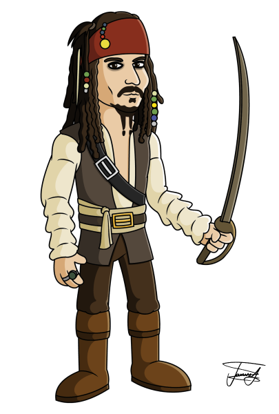 Captain-Jack-Sparrow-Cartoon-Caricature