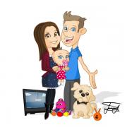 cartoon-caricature-gift