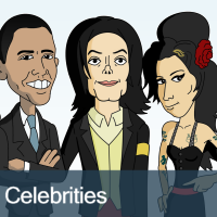 Celebrity Caricatures & Comics