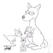 kangaroo-cartoon-sketch